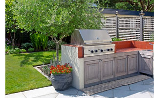 A barbecue and outdoor kitchen were also an element of the design.