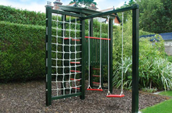 Bespoke natural play equipment by Plan Eden is both attractive and space-saving.